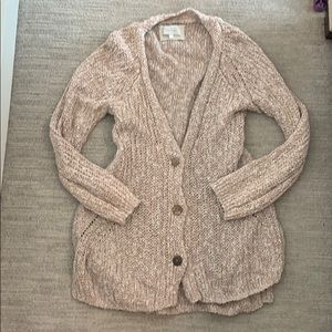 Anthropologie Open Knit Cardigan